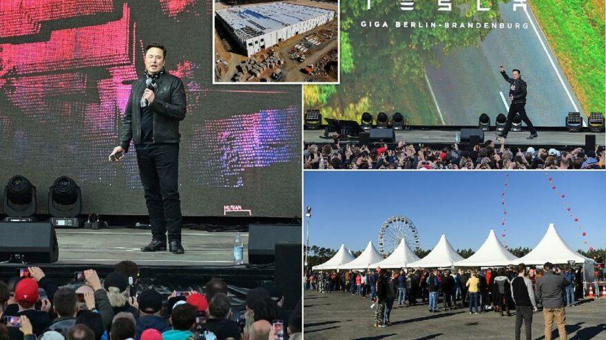 Elon Musk Berlin'de popstar gibi karşılandı