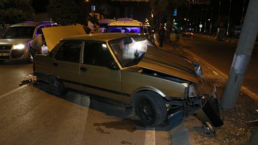 Kaza yapıp yakalandı, aracından tabanca ile uyuşturucu madde çıktı
