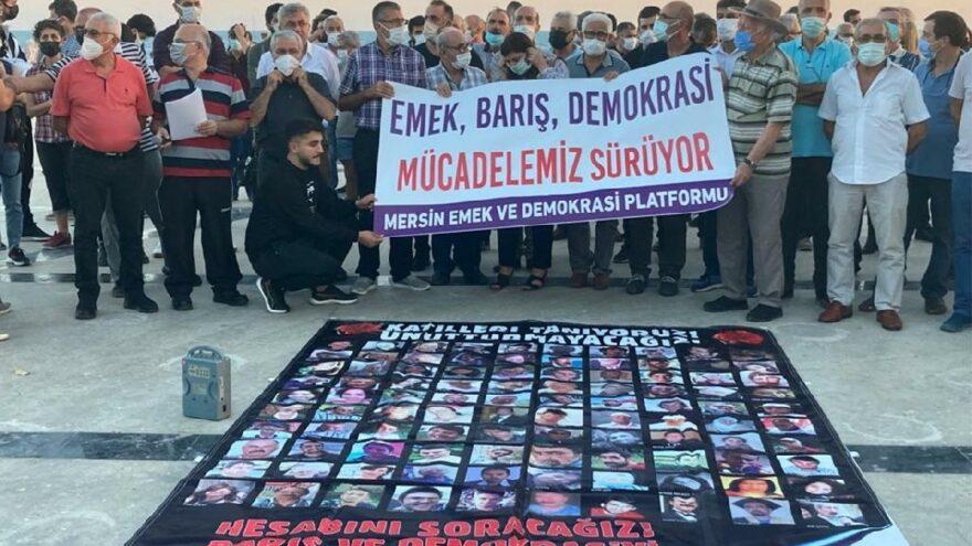 Mersin'de 10 Ekim katliamı protesto edildi