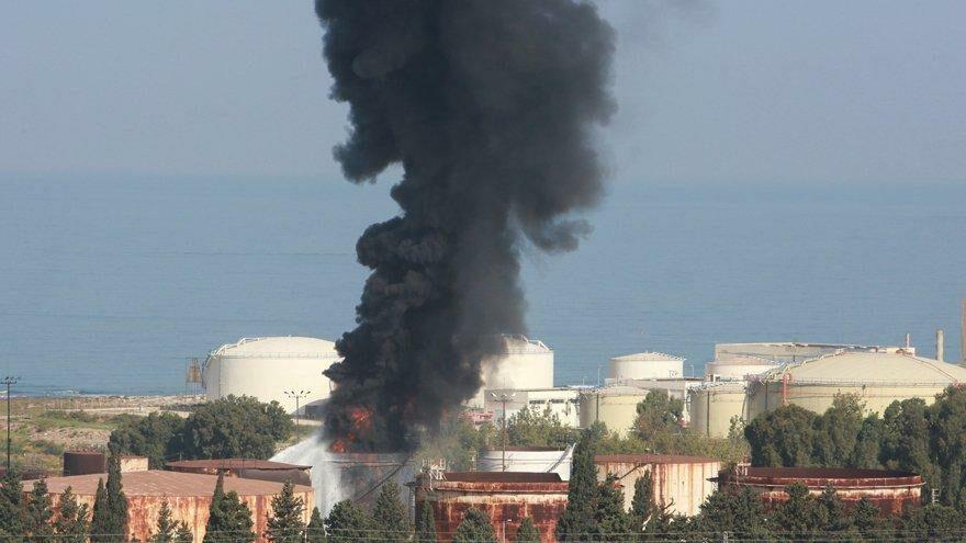 Lübnan'da korkutan yangın
