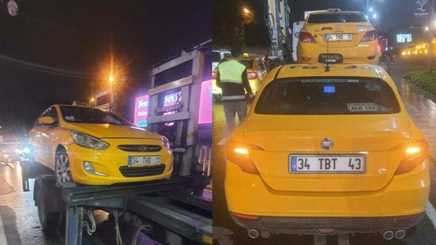 Yolcu seçtikleri belirlenen 4 ticari taksi trafikten men edildi