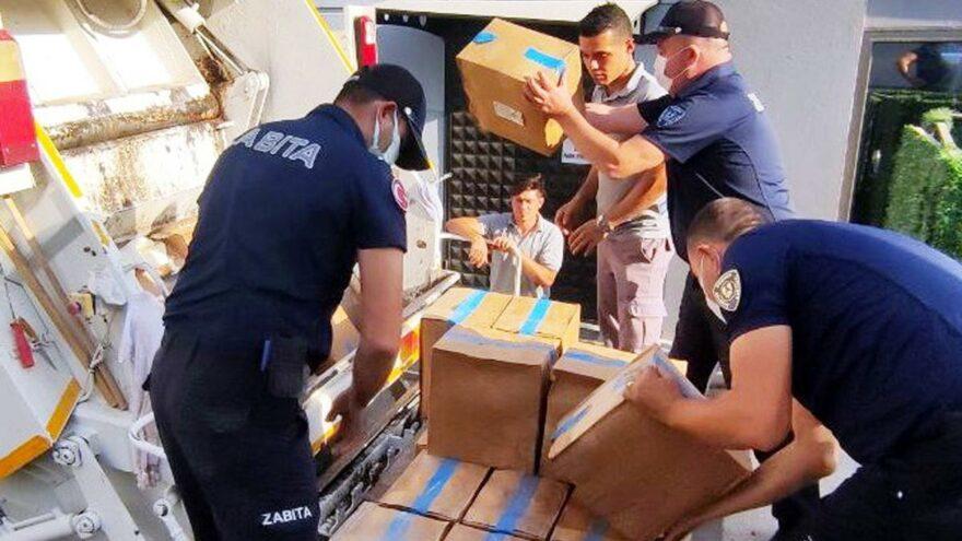 Bodrum'da son kullanma tarihi geçmiş 1 ton gıda imha edildi
