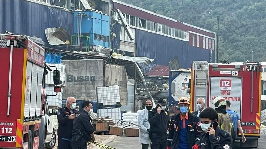 Plastik fabrikasında patlama: 1 ölü, 3 yaralı