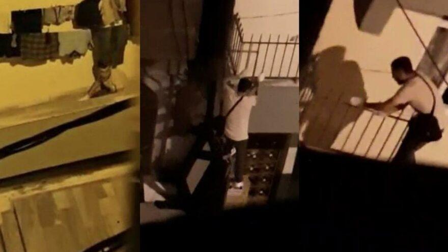 Komşusunun evine giren hırsızı böyle görüntüledi