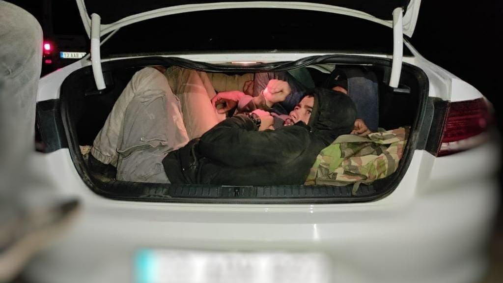 29 kaçak göçmenin balık istifi yakalandığı iki otomobilin sürücüleri tutuklandı