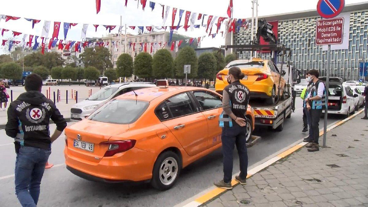 Taksim'de turist isyan etti, taksi10 gün trafikten men edildi