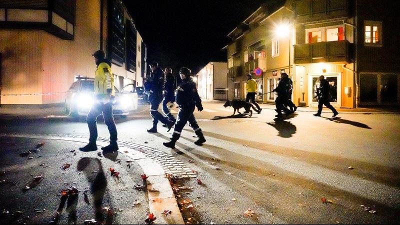 Norveç'te oklu saldırgan paniği