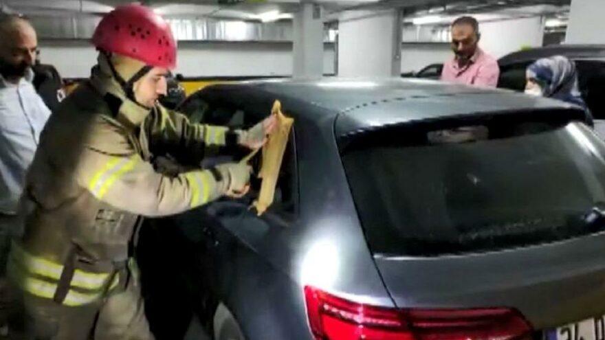 1 yaşındaki çocuk araçta kilitli kaldı